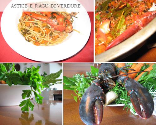 pasta astice e verdure