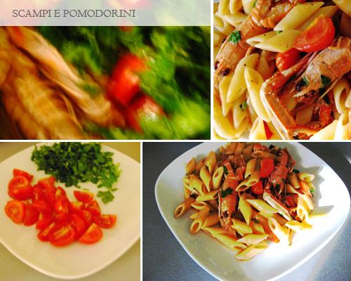 Pasta scampi e pomodorini