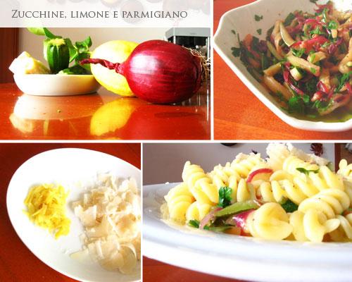 Pasta zucchine, limone eparmigiano