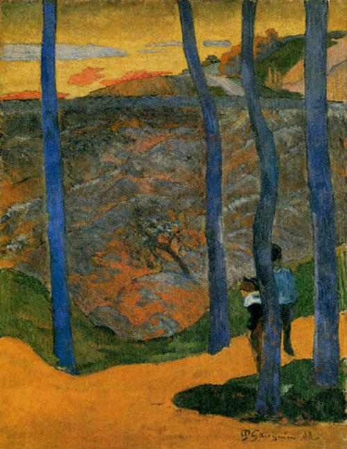 alberi azzurri gauguin