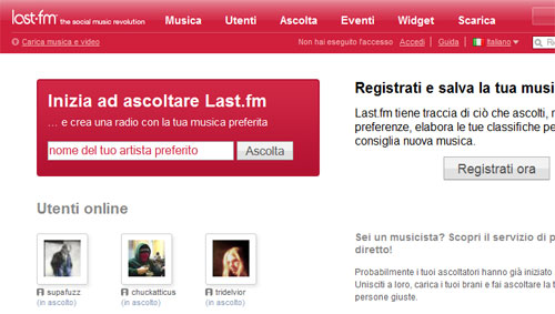last.fm social music