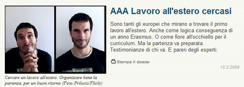 AAA Lavoro all'estero cercasi (in italiano, inglese, francese ...