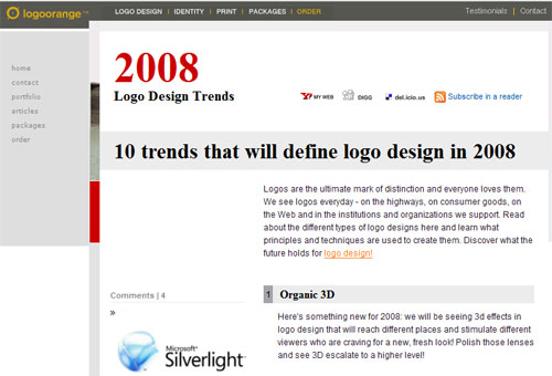 logo design trends 2008