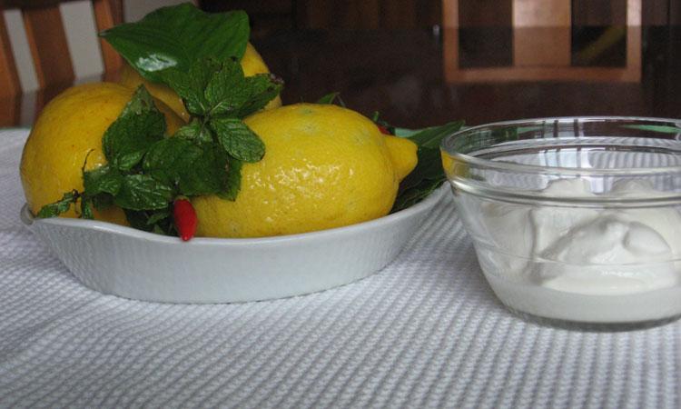 ingredienti limoni ripieni di mozzarella